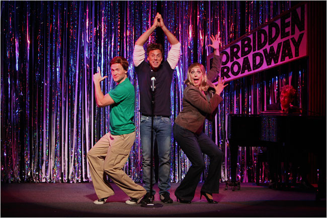 jared bradshaw forbidden broadway michael west gina kriezeimar