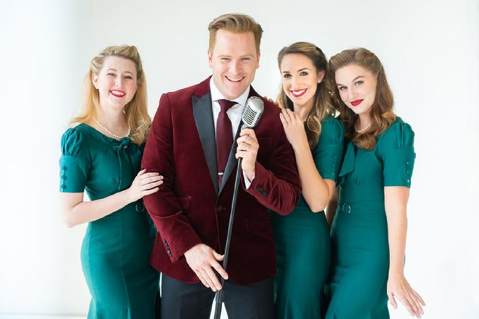 jared bradshaw molly wiley maggie salley jess berzack bing crosby christmas andrews sisters wallace buice theatre ad players the george