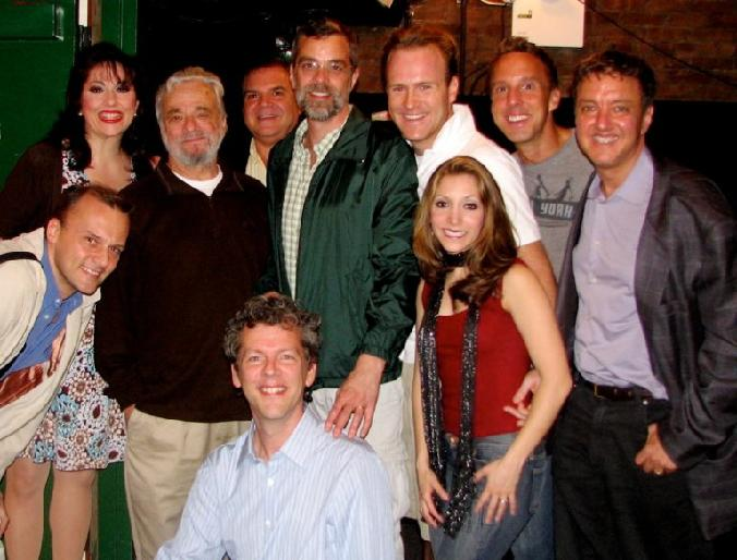 Jared bradshaw stephen sondheim forbidden broadway phillip george, christina bianco, david caldwell, billy selby, michael west, gerard allessandrini, gina kriezemar