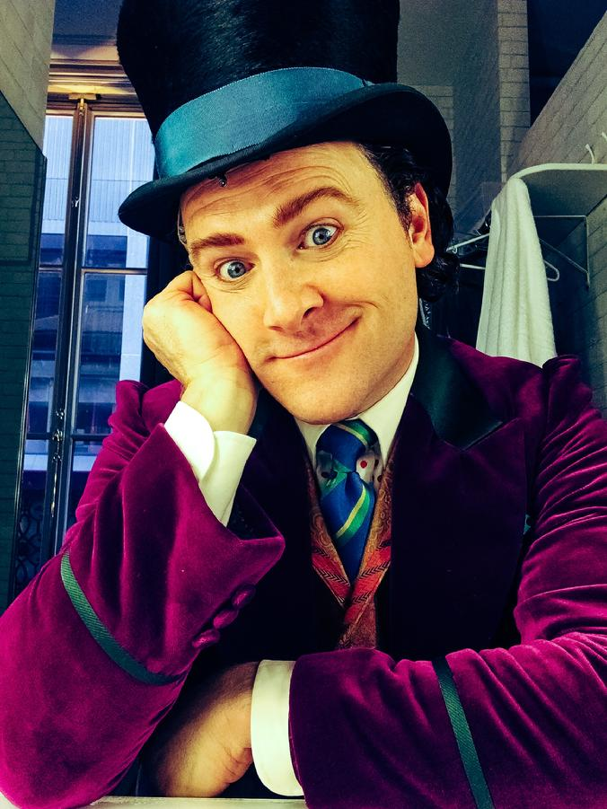 willy wonka jared bradshaw charlie and the chocolate factory broadway christian borle understudy warner brothers